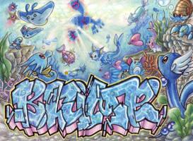Deep Sea- letters Blume by rouge-bat
