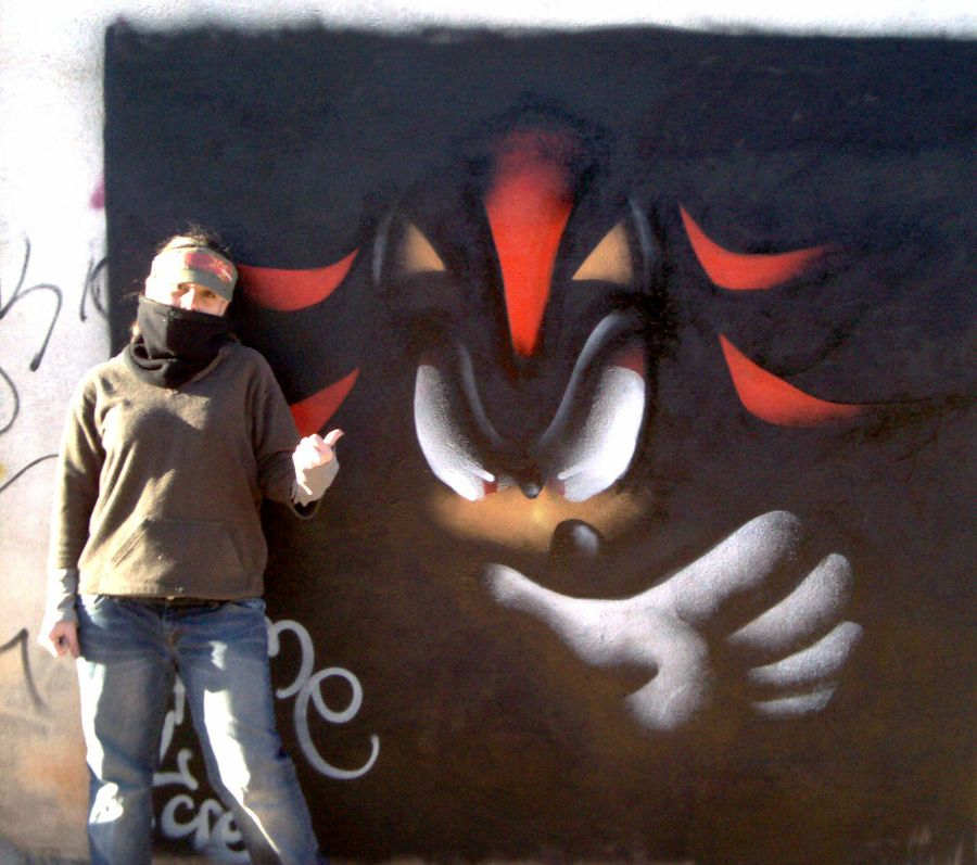 shadow graffiti by rouge bat