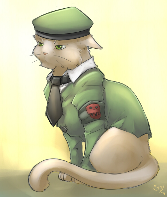 uniform cat by crimson-nemesis