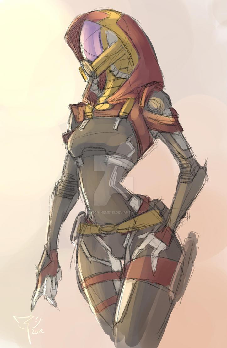 quarian_doodle01 by crimson-nemesis