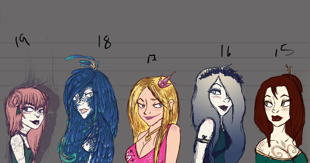All OC 15 - 19 by luvesong