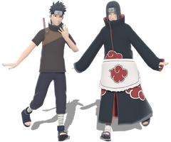 The two Uchihas for MMD