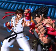 Ryu vs Jin by MythologyArts