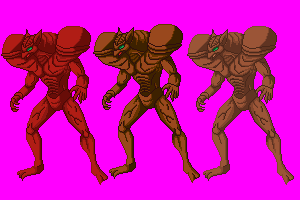 Zoanoid Vamore Color variants sprites by Odin787