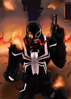 Agent Venom : Trial by Fire by MythologyArts