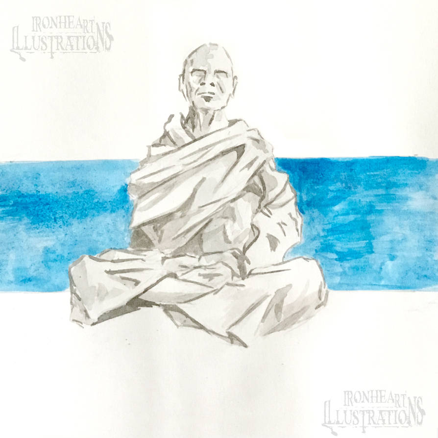 Inktober Day 2 - Tranquil by Michael-Watson