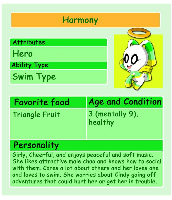 Chao Card: Harmony by HeroineMarielys