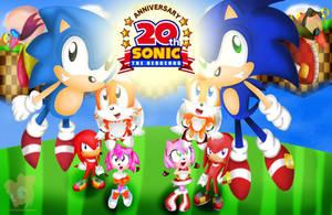 Sonic 20th Anniversary by HeroineMarielys