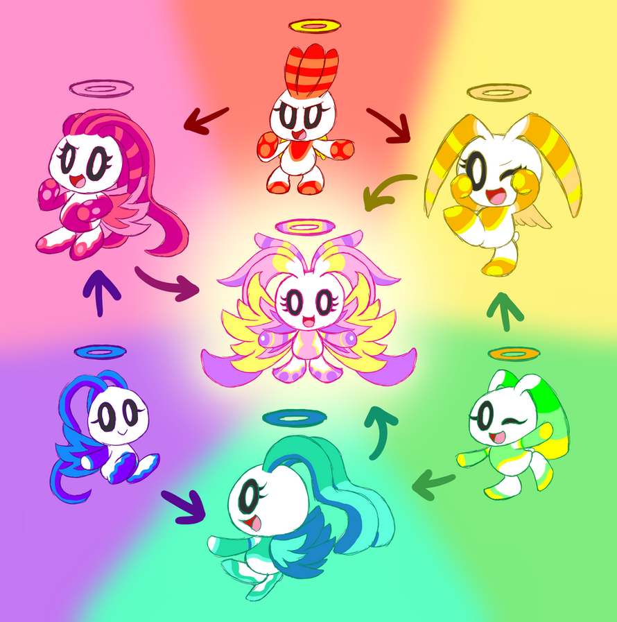 Hexagon Fusion Chao Trio Edition by HeroineMarielys