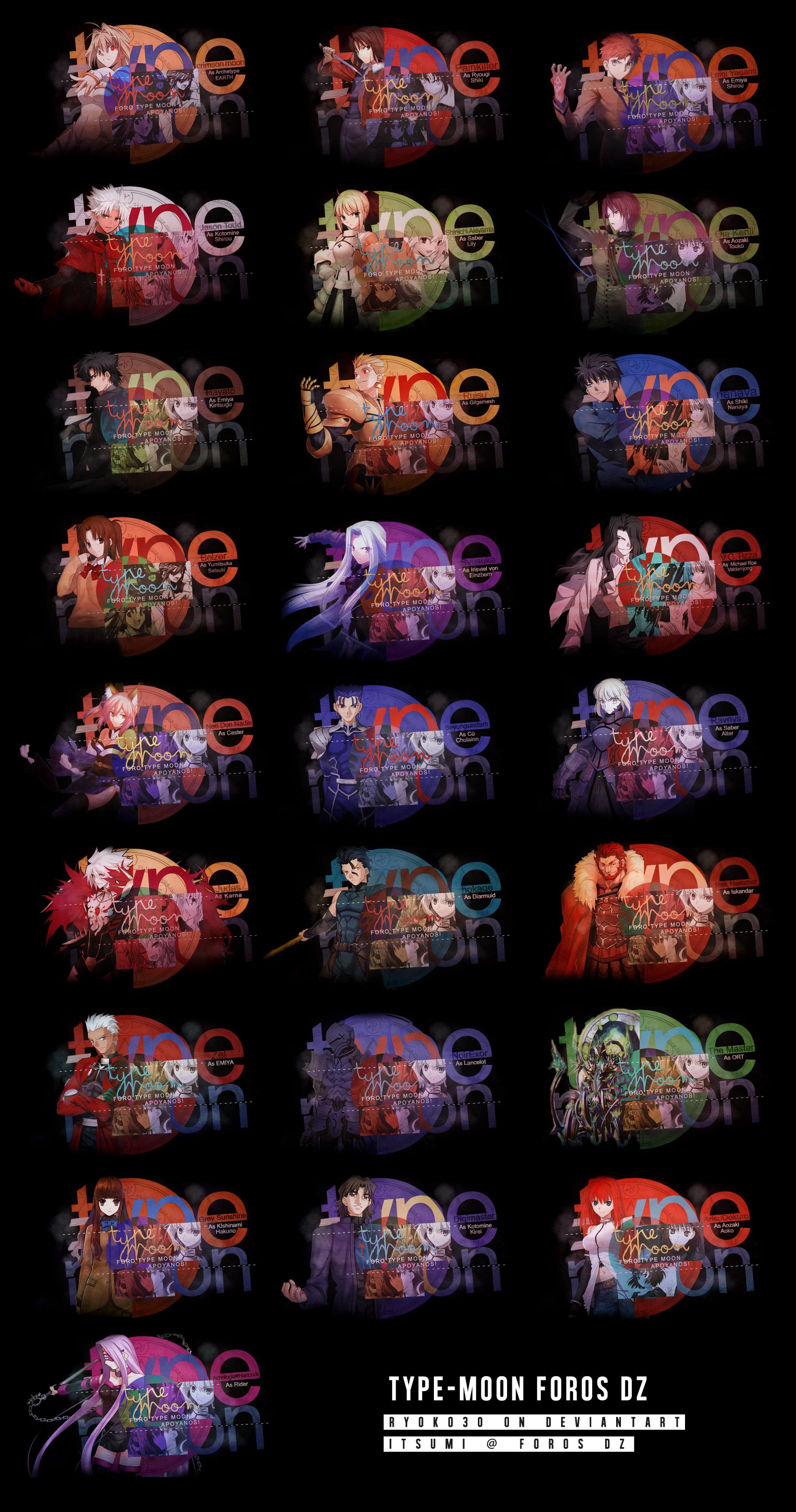 Type Moon Firmas by Ryoko30