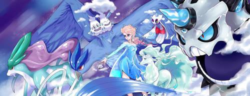 POKEMON - Princess Elsa team by taitsujin