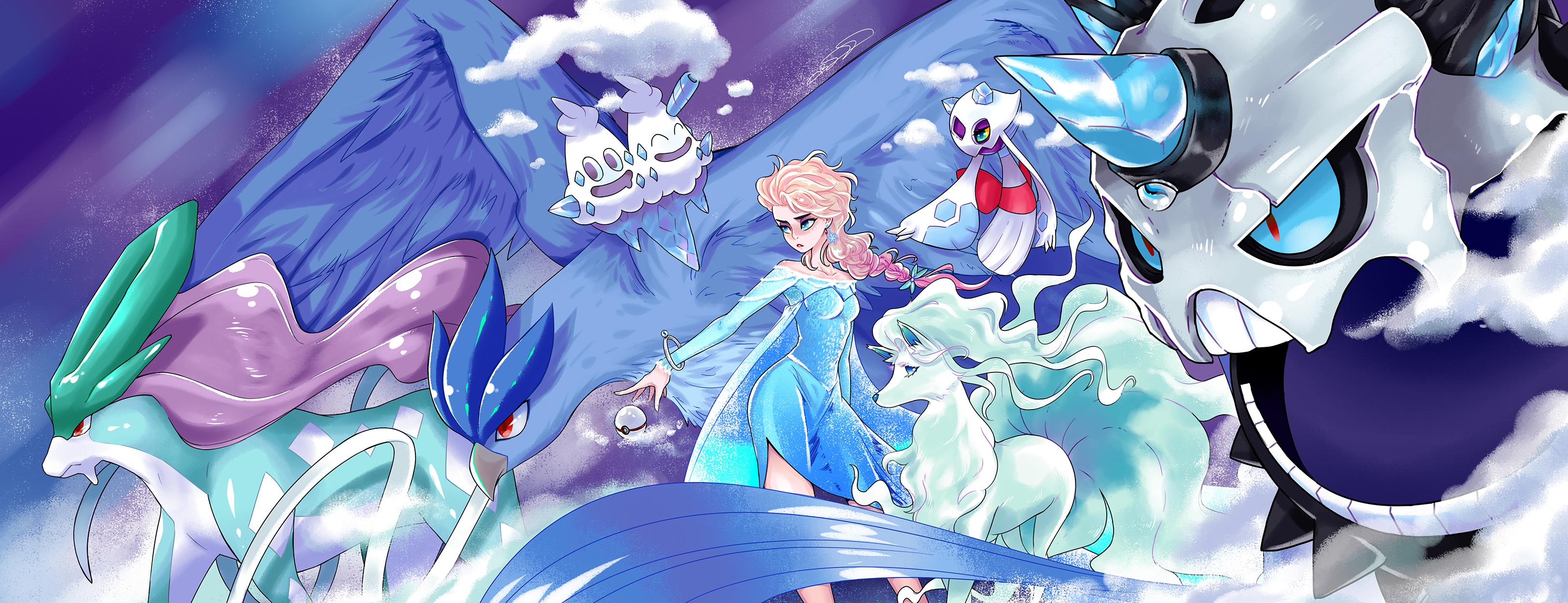 POKEMON - Princess Elsa team by taitsujin