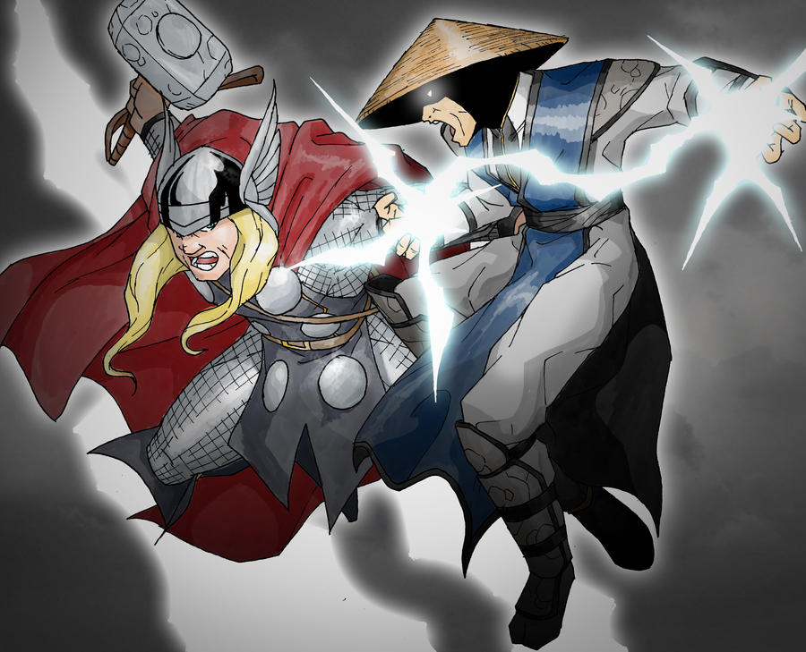 thor vs raiden mortal kombat the green lantern corps