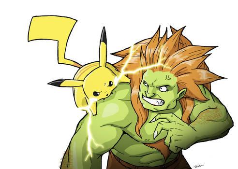 Blanka vs. Pikachu
