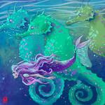 SeaHorses and Mermaid