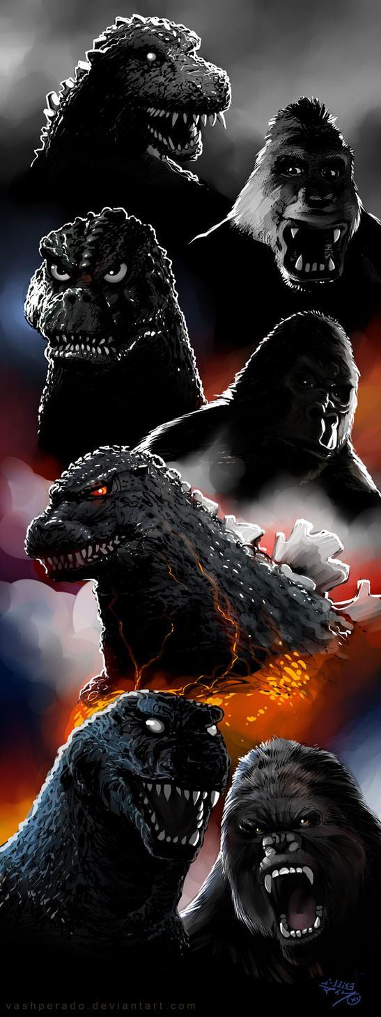 Godzilla Kong History by vashperado