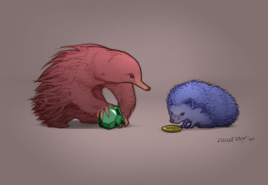 how to draw a realistic echidna