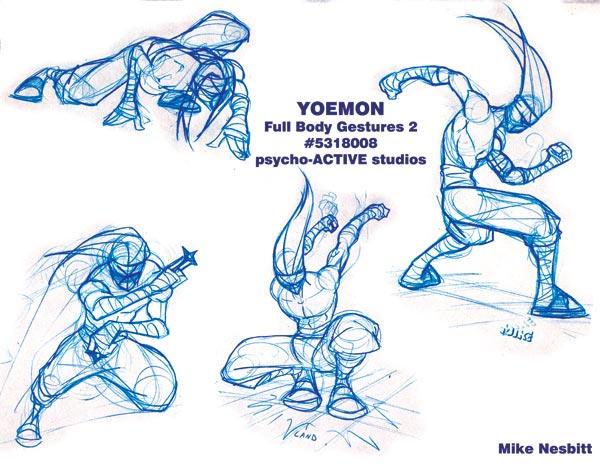 Ninja pose drawing