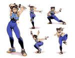 Chun Li poses
