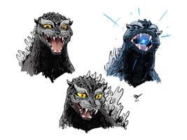 Godzilla cat faces