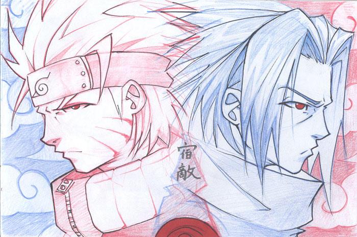 __Naruto__Sasuke__Rivals___by_vashperado