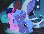 Twilight and Luna (fillies) by tobizgirl