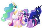The Four Regal Princess of Equestria by tobizgirl