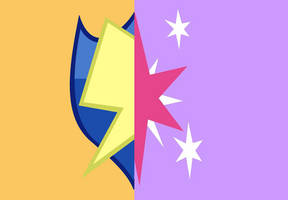 Flash Sentry and Twilight Sparkle's cutie mark