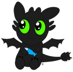 Little chibi Toothless by tobizgirl