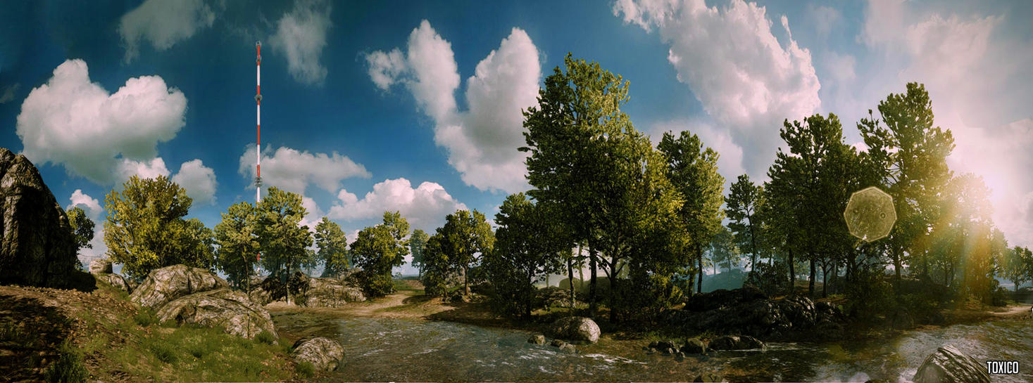 Caspian Border Forest Panorama By T0XICO