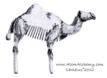 Computer sketching project camel subject by AtomAlchemy