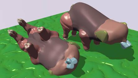 Happy Pigphants by AtomAlchemy