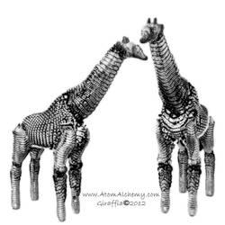Giraffe in reptilian scales by AtomAlchemy