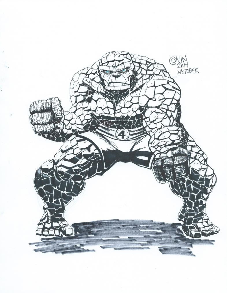 The Thing Fanart Inktober2014 by Calvinclyke