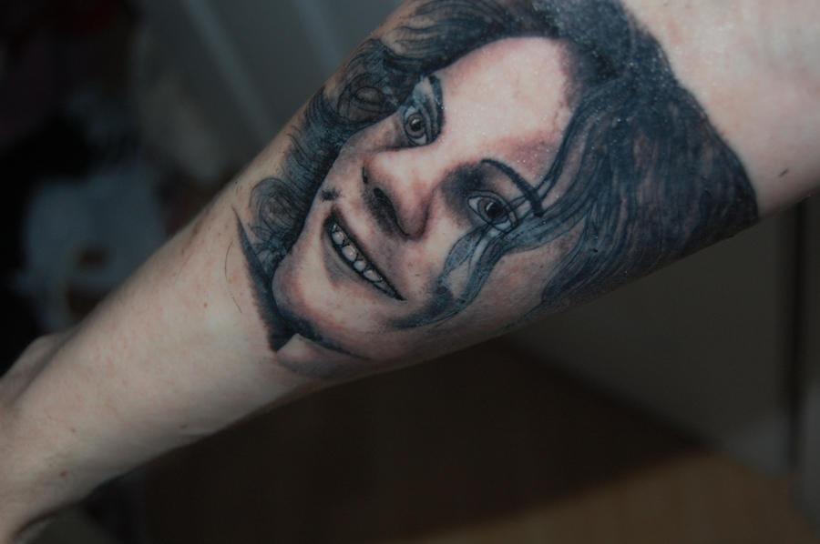 bam tattoo. HIM Ville Valo Tattoo