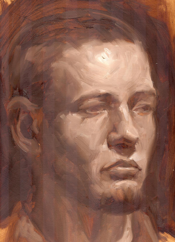 Oil Portrait Burnt Umber by faxtar