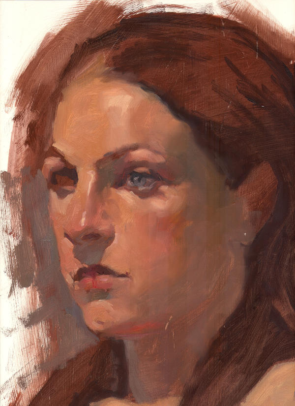 Oil Portrait by faxtar