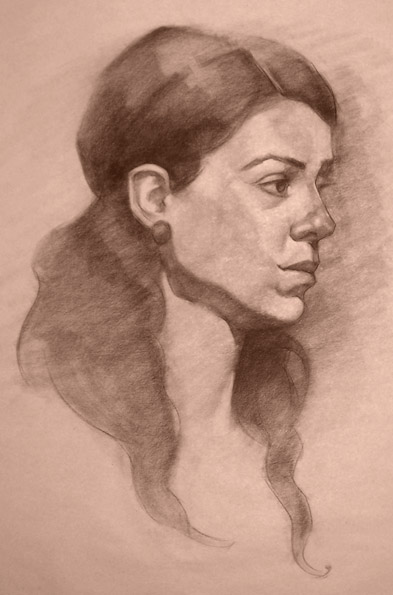 Portrait Life Drawing 10 by faxtar