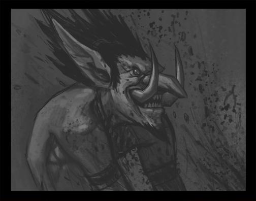Happy Troll- Sketch by faxtar