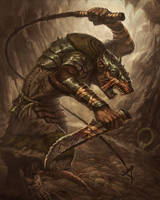 Skaven Packmaster by faxtar