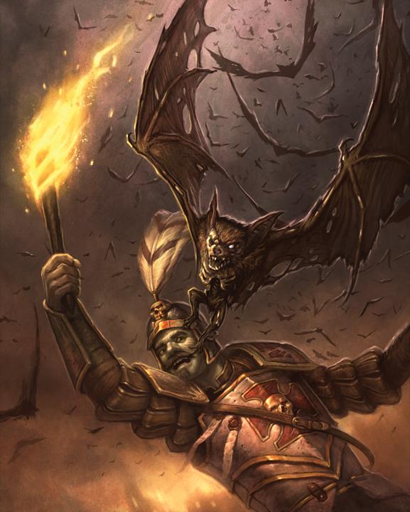 Undead Bat Swarm by faxtar