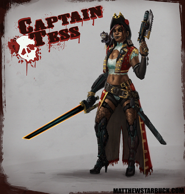 Captain Tess, Space Pirate by faxtar