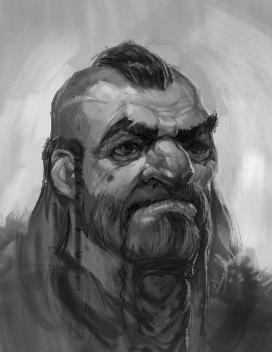 Angus Sketch-Beard by faxtar