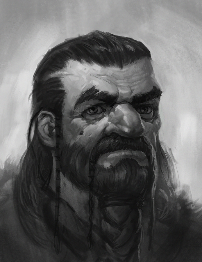 Angus Sketch-Beard II by faxtar