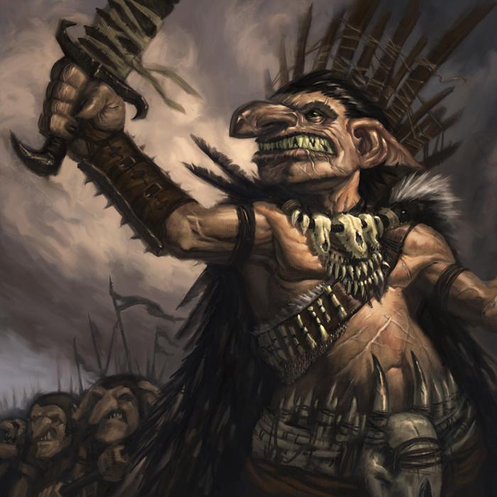 Goblin Warlord by faxtar
