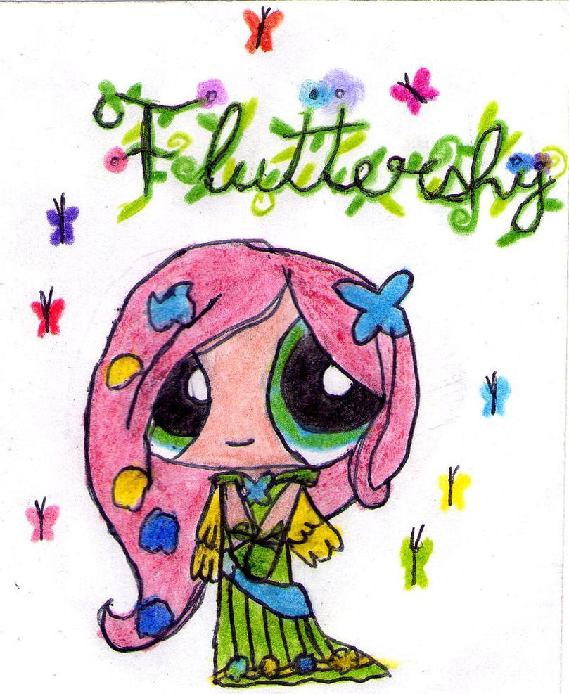 Galloping Gala Ponypuffs Fluttershy by Makita-95