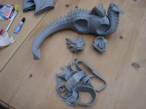 Draco from Dragonheart WIP