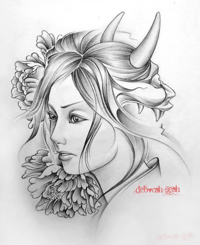 Volwassen Kleurplaat Person The Girl And The Demon By Crimson Touch On Deviantart