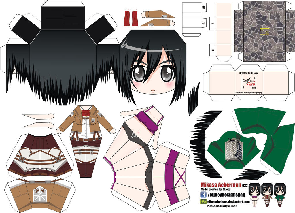 Mikasa Ackerman (Joey's Chibi Girls 022) by ELJOEYDESIGNS