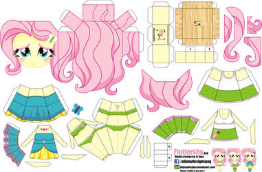 Fluttershy (Joey's Chibi Girls 044) by ELJOEYDESIGNS